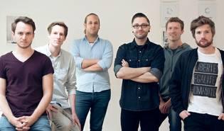FOTO: Gründer: Julian Leitloff, Raoul Schäkermann, Michael Aigner, Florian Krebs, Mike Schäkermann, Tim Bibow