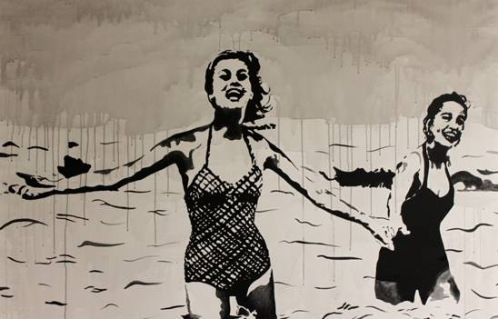 Warum macht sie nicht mit  2015  Acryl auf Leinwand 150 x 100 cm  ©Holger Zimmermann.JPG