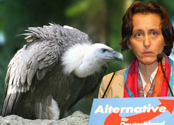 Beatrix von Storch und Gänsegeier