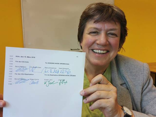 Schwarz-grüner Kooperationsvertrag für Köln