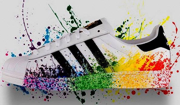 Adidas Superstar Farbspritzer