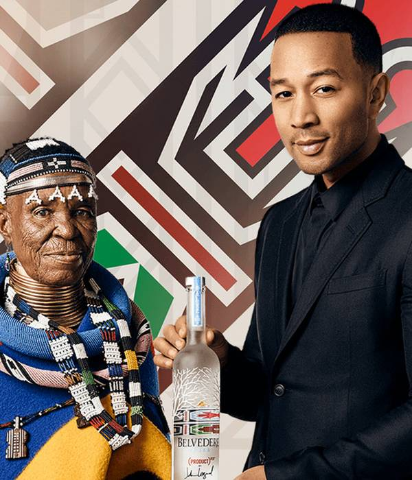 Esther Mahlangu John Legend Vodka