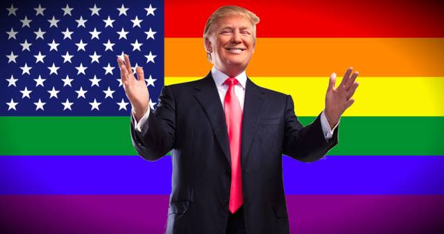 trump rainbow flag