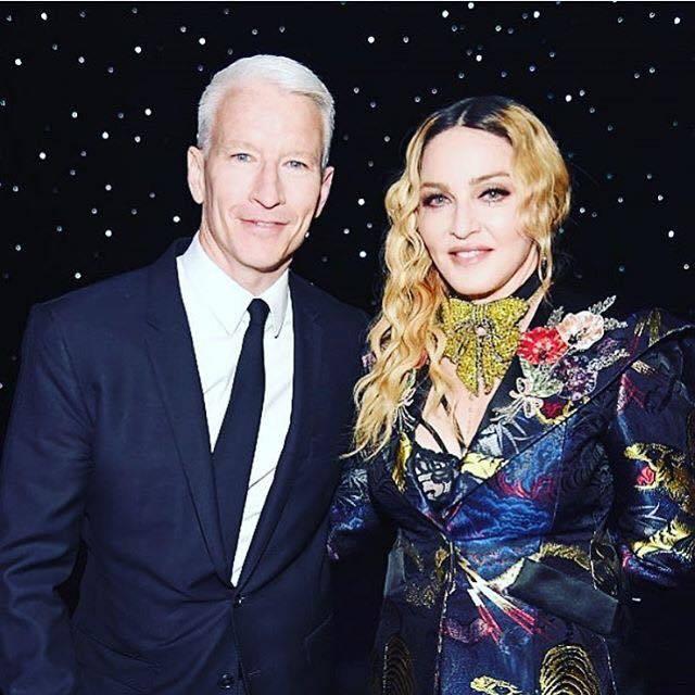 Madonna und Anderson Cooper