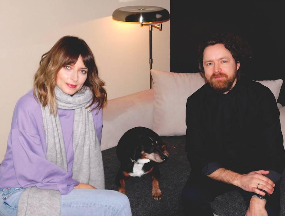 Eva Padberg, Hund und Mann Niklas Foto: M. Rädel