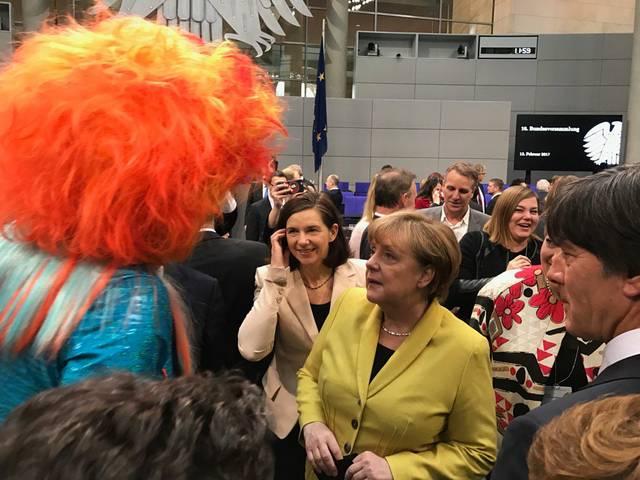 Olivia Jones und Angela Merkel