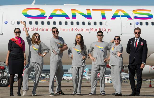 Qantas Regenbogen
