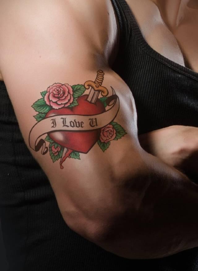Love Muskel Tattoo