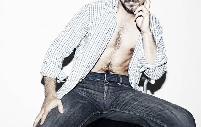 Jeans Mann Hemd offen