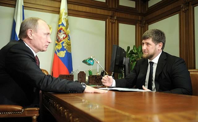 Wladimir Putin und Ramza Kadyrov