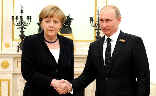 Angela Merkel & Vladimir Putin