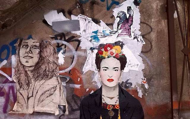 Frida Kahlo Street Art Graffiti Paste-Up