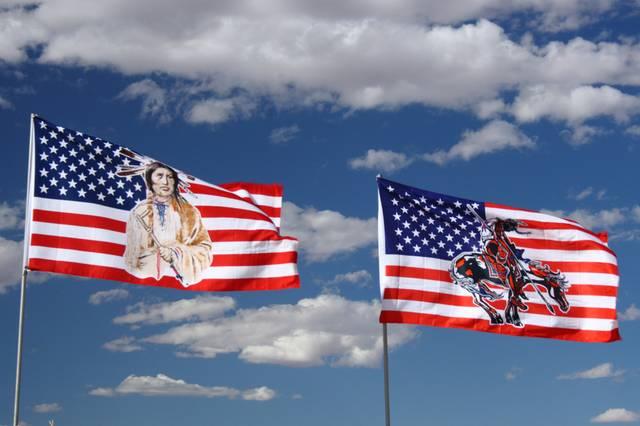 Flaggein in der Denkmal-Senke Arizona