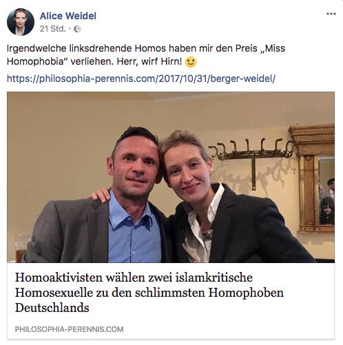 David Berger und Alice Weidel