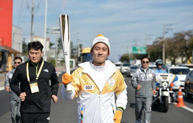 Olympische Fackel kommt nach Pyeongchang