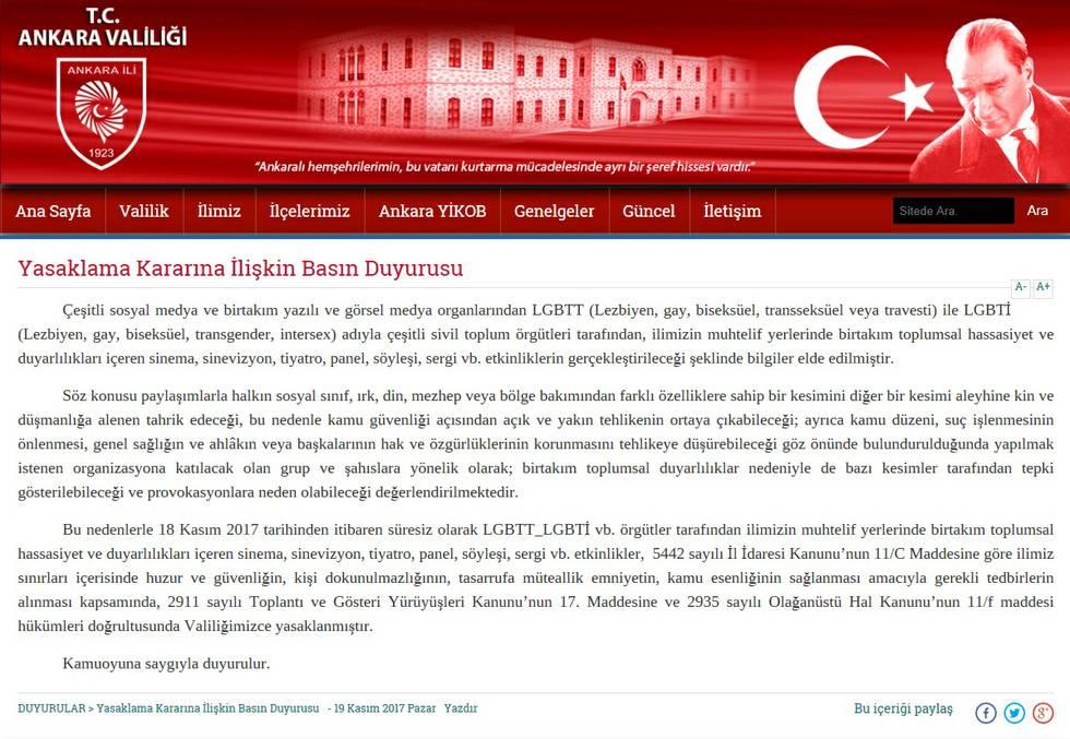 Ankara verbietet sämtliche LGBTI-Veranstaltungen