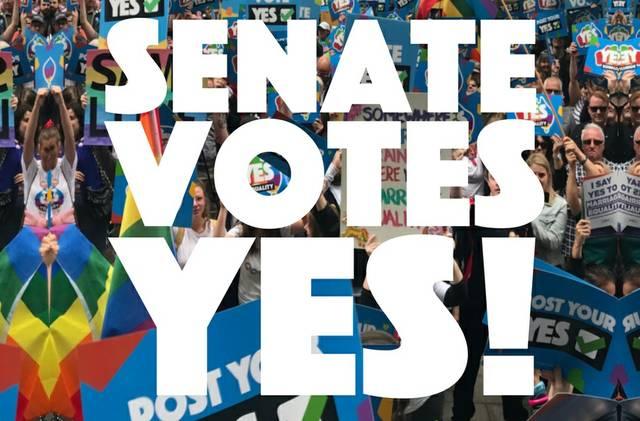 Australiens Senat winkt Eheöffnung durch