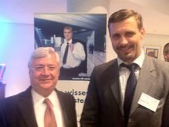 FOTO: M. PRITZLAFF / Klaus-Peter Müller (Vorsitzender des Aufsichtsrats der Commerzbank) mit Alexander Vogt (Bundesvorsitzender der LSU)