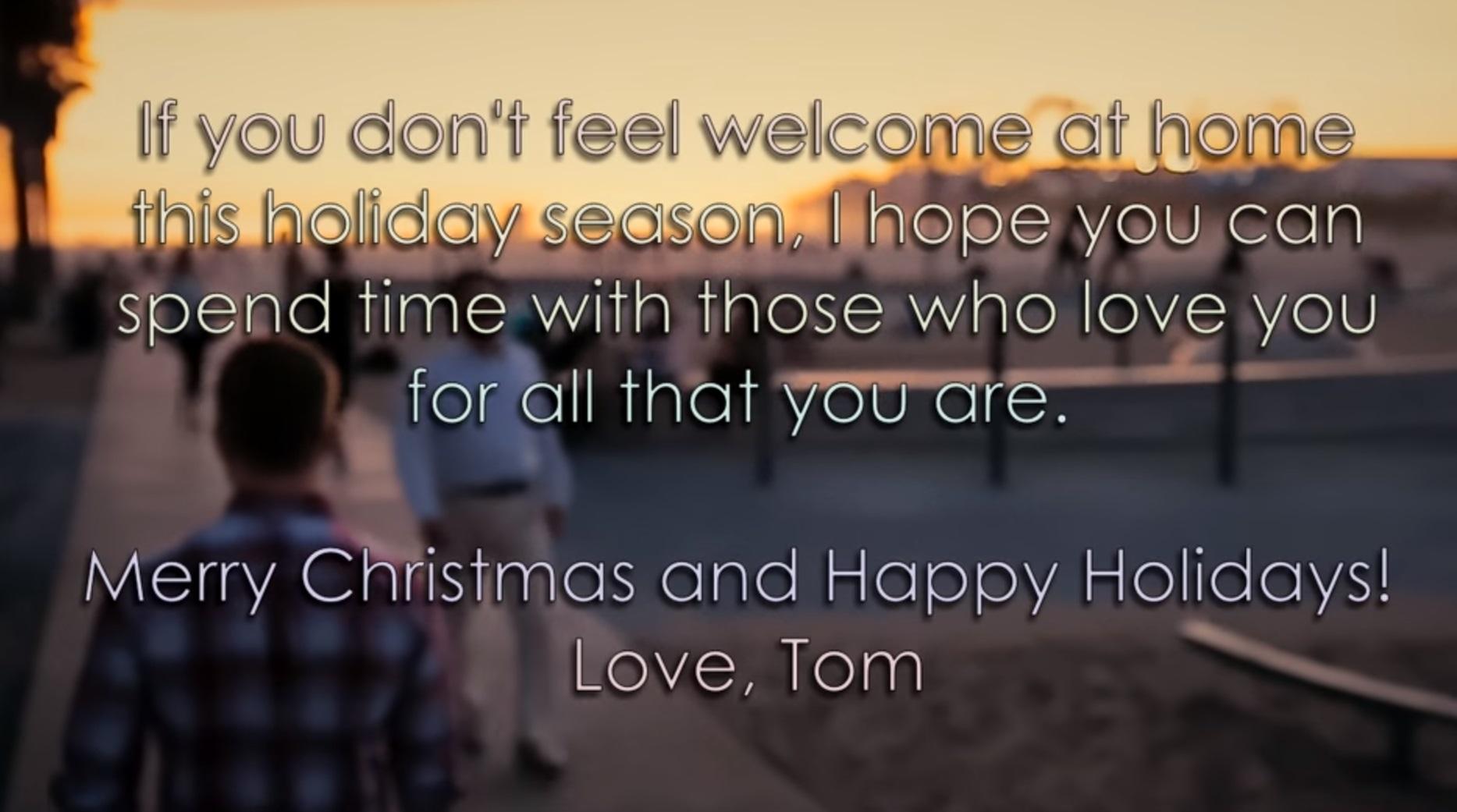 """Tom Goss setzt Zeichen mit schwuler """"Weihnachtsbotschaft"""" - blu ..."""