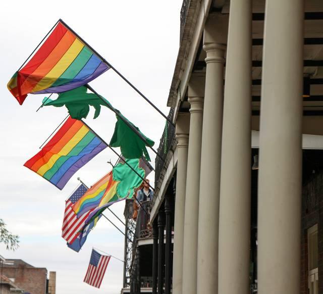 Flaggen LGBTIQ / US