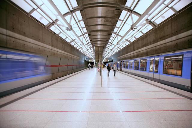 U-Bahn Haltestelle Messestadt Ost