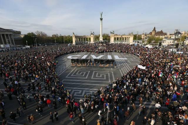 Ungarn Stop Soros Protest
