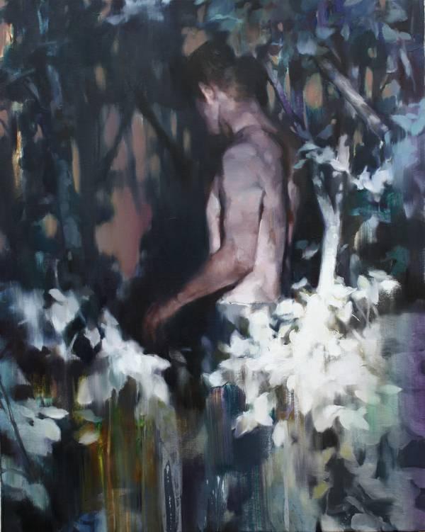 Yongchul Kim, Das ungläubige Licht, 2018, Öl auf Leinwand, 100 x 80 cm.jpg