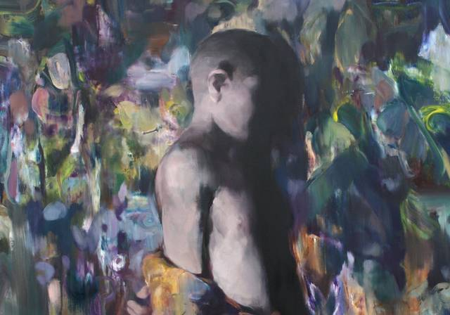 Yongchul Kim, Spiegelung, 2018, Öl auf Leinwand, 100 x 80 cm.jpg