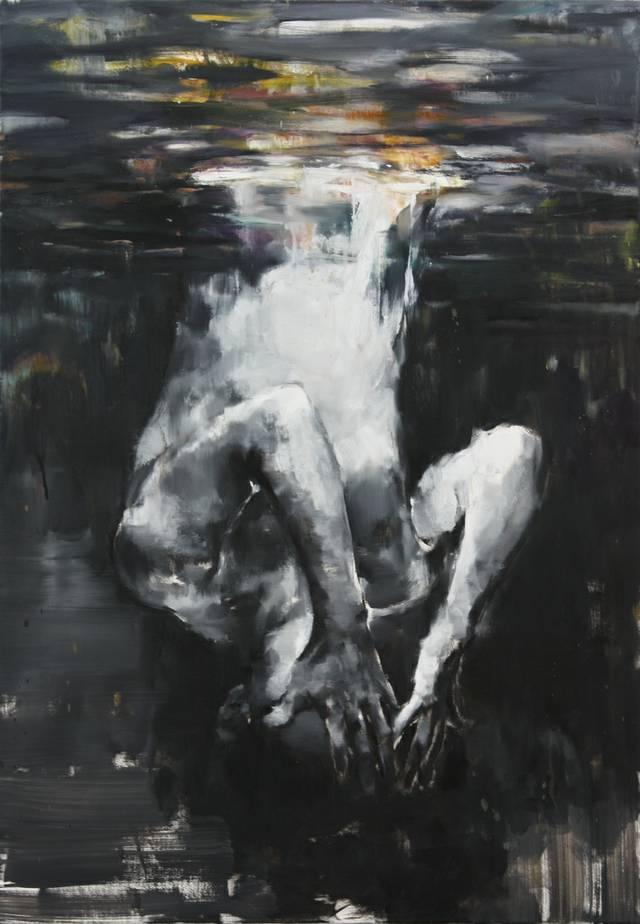 Yongchul Kim, Spiegelung, 2018, Öl auf Leinwand, 100 x 70 cm.jpg