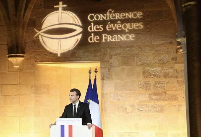 Macron / Bischofskonferenz 2018