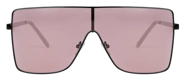 ASOS Visor Sunglasses/Black Metal/Pink Lens