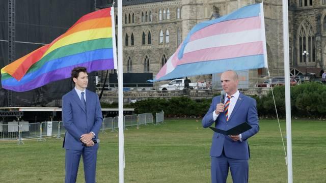 Trudeau Pride Flag 2018