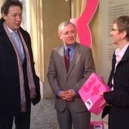 © Axel Hochrein (LSVD), Staatssekretär Dr. Max Stadle & Renate Rampf (LSVD)