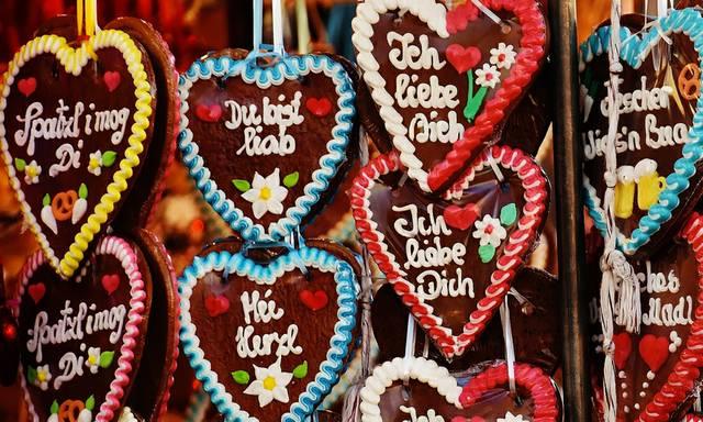 Himbeer-Oktoberfest-Herzen