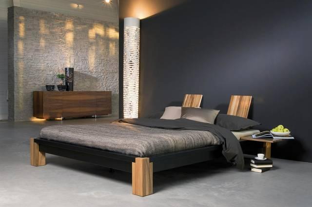 Japanisches Bettdesign
