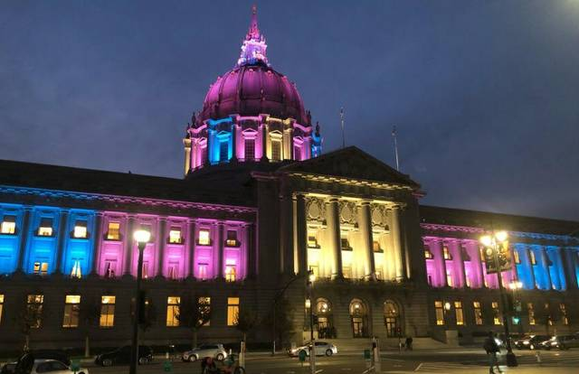 City Hall SF Trans Awareness