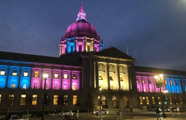 City Hall SF Trans Awareness