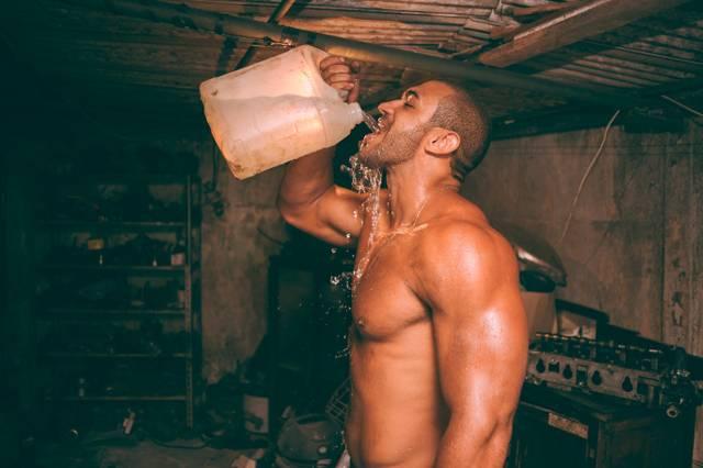 Mann und Wasser