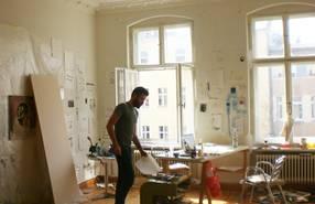 Paul de Florian in seinem Atelier