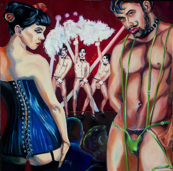 Joerg Rautenberg_The CanCan-Boys_100x100cm_08.2017.JPG