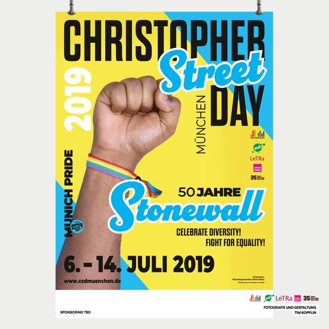 Plakat CSD München 2019