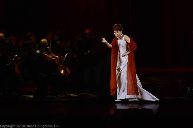 Maria Callas als Hologram