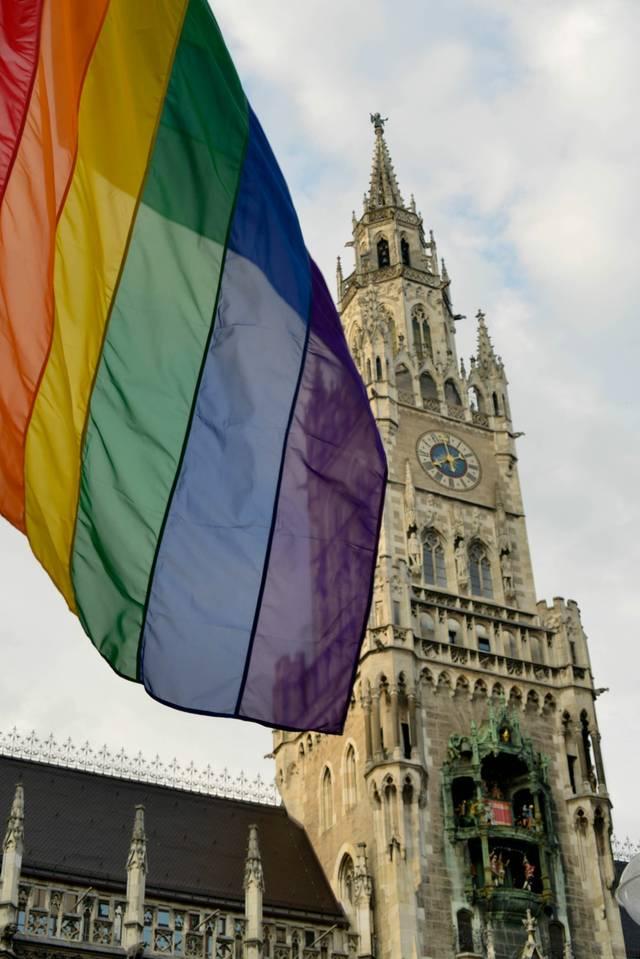 München Rathaus Fahne