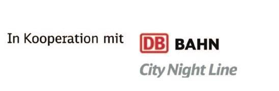 Weitere Informationen und Buchungen zum City Night Line über die Service-Nummer der Bahn unter 0180 5 99 66 33*, überall, wo es Fahrkarten gibt und unter www.bahn.de/citynightline