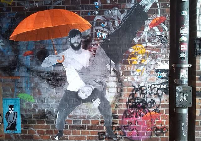 Street-Art Bärte Männer