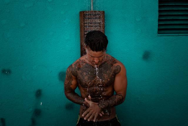 Dusche Mann