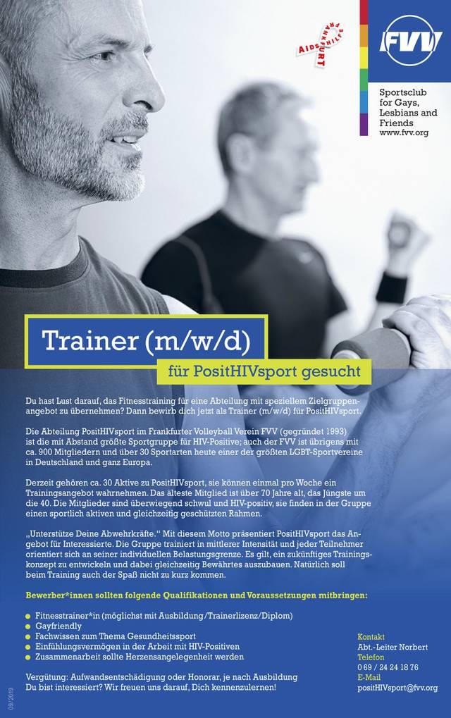 FVV Trainergesuch