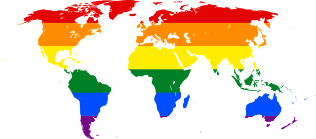 Regenbogen Weltkarte