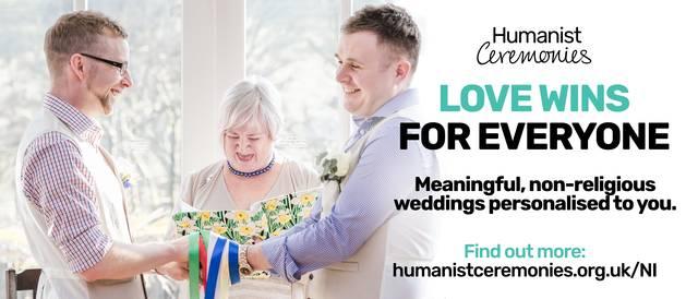 Schwules Hochzeitspaar in Nordirland