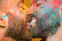 Schwules Paar Kuss
